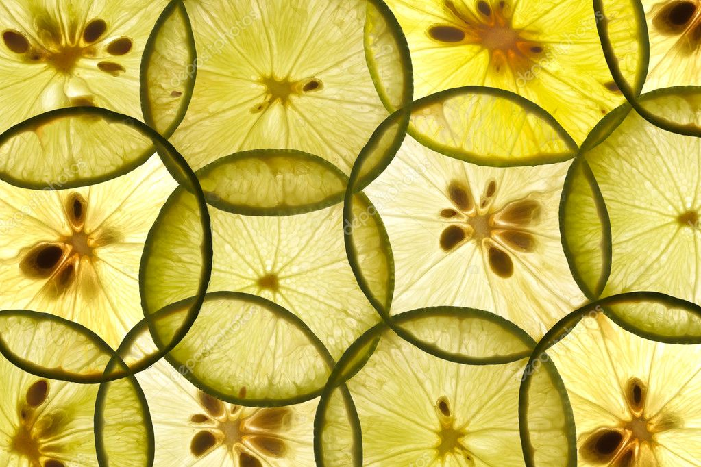 Transparent thin lime pieces — Stock Photo #10155943