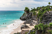 Beautiful planted clif tulum- mexico — Stock Photo