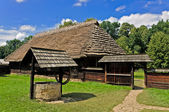Traditional polish rural cottage — Stock Photo