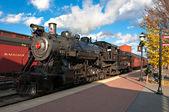The steam engine train — Stock Photo