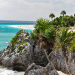 Clif tulum mexico — Stock Photo