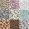 Stockvector : Repeated animal skin texture print