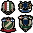 Royal classical emblem badge - 图库矢量图片