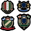 Royal classical emblem badge - Vettoriali Stock