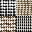 Stock Vector: Fashion abstract hounds tooth pattern