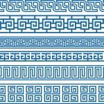 Celtic oriental border symbol set — Stock Vector #10068160