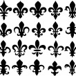 Fleur de lys shield design — Vettoriali Stock