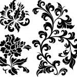 Decorative spiral plant element — Stock Vector