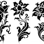 Flower creative element set — Stock Vector