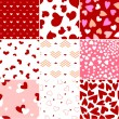 Valentine heart seamless pattern — Stock Vector
