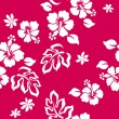 Hibiscus flower seamless pattern - Stock Vector