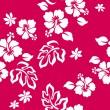 Hibiscus flower seamless pattern — Stock Vector