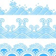 Seamless ocean wave symbol pattern - Stock Vector