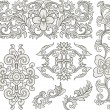 Scroll ornament set — Stock Vector
