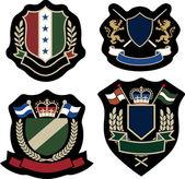 Royal classical emblem badge — Stock Vector