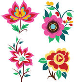 Colorful flower set — Stock Vector