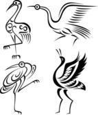 Bird crane illustration — Stock Vector