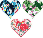 Spring stylish flower heart design — Stock vektor
