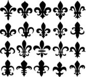Fleur de lys shield design — Vettoriale Stock