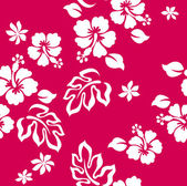 Hibiscus flower seamless pattern — Stock Vector