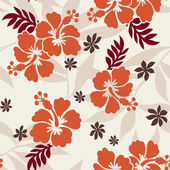 Hibiscus flower print — Stock Vector