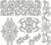 Scroll ornament set — Stock Vector