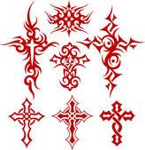 Cross tattoo symbol — Stock Vector