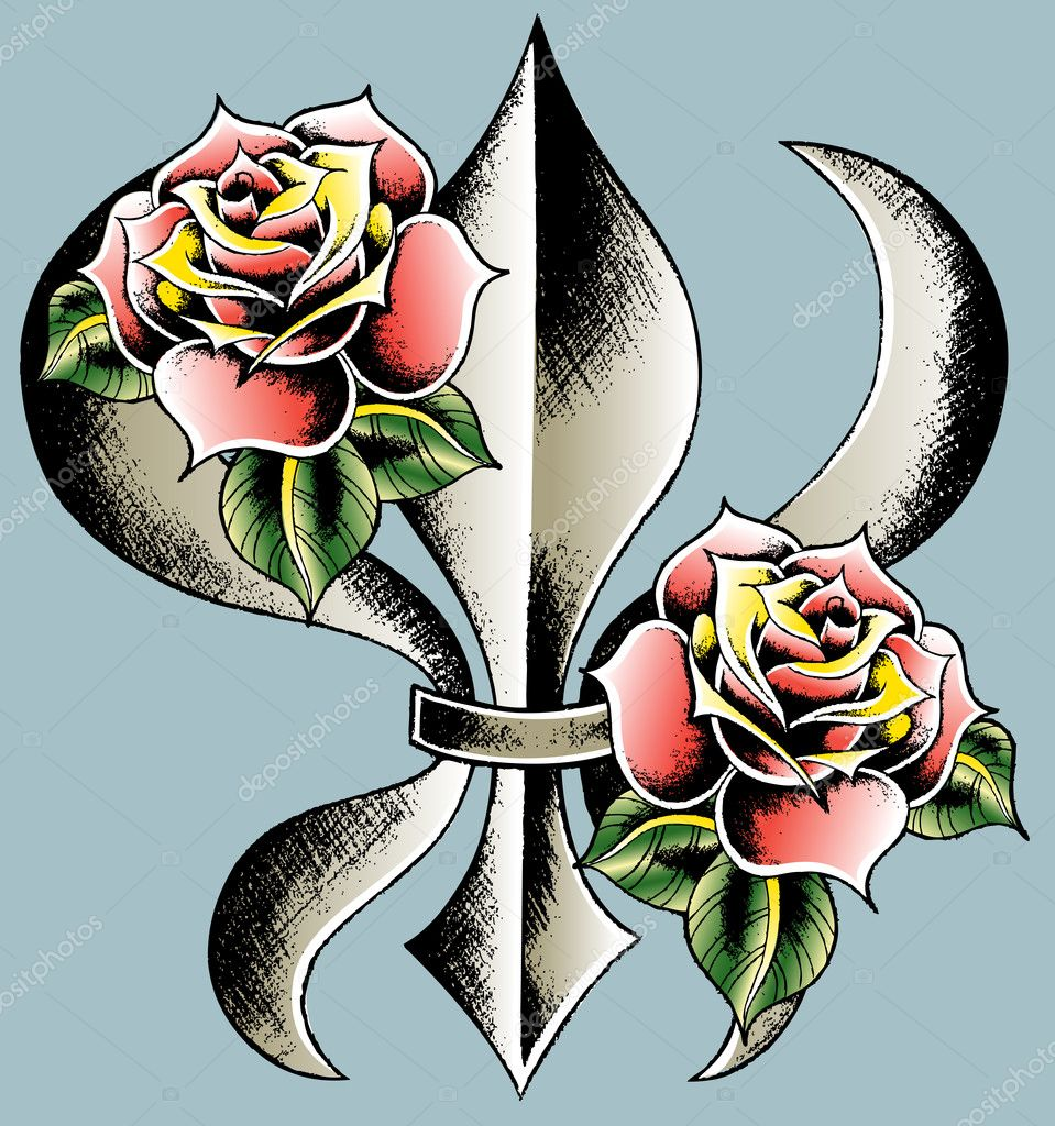 Classic shield with rose — Stock Vector #10068437
