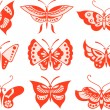 Stock Vector: Butterfly set illustration