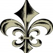 hand drawn fleur de lis — Stock Vector