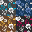 Seamless flower summer fabric pattern - Stock Vector