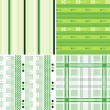 Repeated stripe and plaid pattern — Vector de stock #10072340