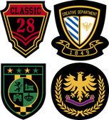 Escudo real insignia emblema — Vector de stock