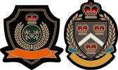 Royal crown emblem badge — Stockvector