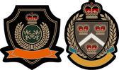 Royal crown emblem badge — Stock Vector