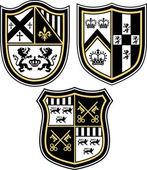 Classic heraldic emblem crest shield — Stock Vector