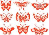 蝴蝶设置图 — 图库矢量图片