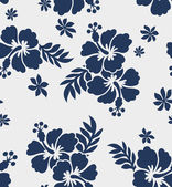 Seamless flower summer fabric pattern — Stock Vector