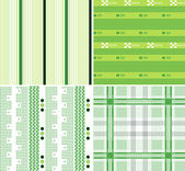 Repeated stripe and plaid pattern — Stock Vector
