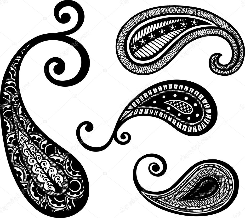 Paisley hand drawn design — Stock Vector #10072261