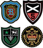 Distintivo di emblema di moda — Vettoriale Stock