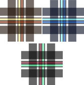 Plaid check fabric print pattern — Wektor stockowy