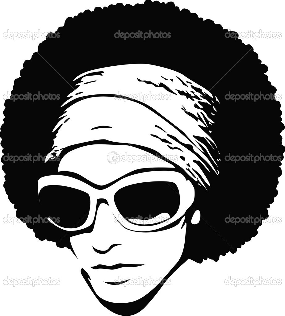 Afro Hair Vector Afro man cartoon design