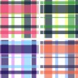 Plaid check fabric print pattern — Stock Vector