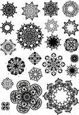 Circulaire spiraal-object — Stok Vektör