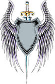 Heraldic classic shield — Stock Vector