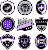 Classic sport emblem badge set — Stock Vector