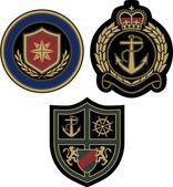 Sailor sign emblem classic royal badge — Stock Vector