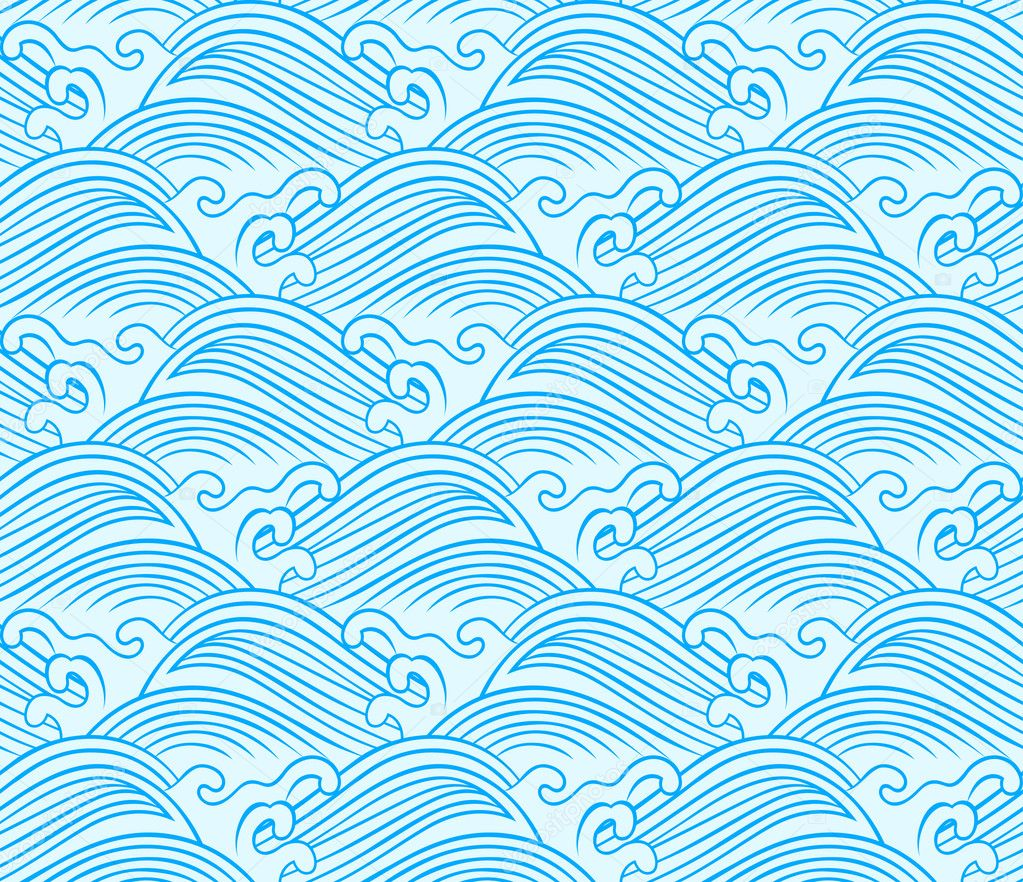Seamless ocean wave pattern - Stock IllustrationVector Wave Pattern