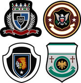 Stylish emblem badge — Stock Vector